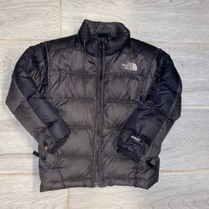 North face 550 goose down black puffy jacket sz 5